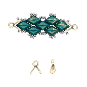 CYM-GD-012049-AB - Triades - GemDuo Bead Ending - Antique Brass Plated - 1 Piece