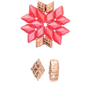 CYM-GD-012227-RG - Plaka - GemDuo Bead Substitute - Rose Gold Plated -  1 Piece