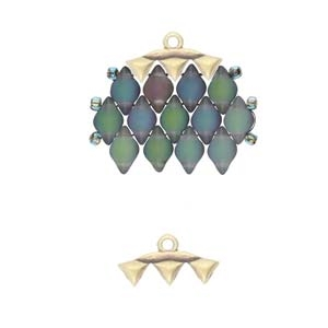 CYM-GD-012322-AB -Vani III - GemDuo Bead Ending - Antique Brass Plated - 1 Piece