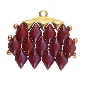 CYM-GD-012322-GP - Vani III - GemDuo Bead Ending - 24kt Gold Plated -  1 Piece