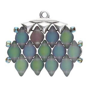 CYM-GD-012322-SP - Vani III - GemDuo Bead Ending - Antique Silver Plated -  1 Piece