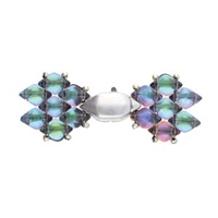 CYM-GD-012334-SP - Ralaki - GemDuo Magnetic Clasp - Antique Silver Plated -  1 Piece