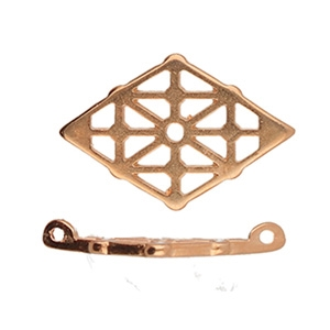 CYM-GD-012361-RG - Clima - GemDuo Connector - Rose Gold Plated - 1 Piece