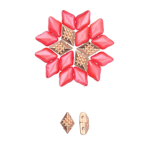 CYM-GD-012432-RG - Adamas - GemDuo Bead Substitute - Rose Gold Plated -  1 Piece