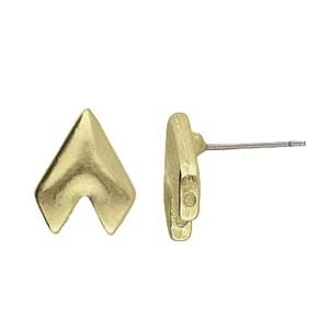 CYM-GD-012819-AB - Provatas II - GemDuo Earring - Antique Brass Plated  - 1 Piece
