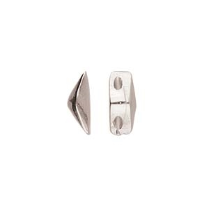 CYM-GD-012842-SP - Kanava - GemDuo Side Bead - Antique Silver Plate - 1 Piece