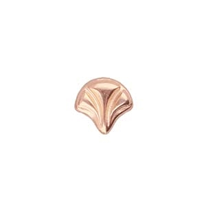 CYM-GNK-012853-RG - Maltas - Ginko Bead Substitute - Rose Gold Plated  - 1 Piece