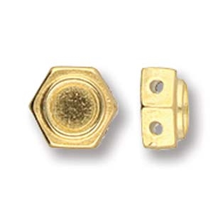 CYM-HC-012047-GP - Kanakari - Honeycomb Bead Substitute - 24kt Gold Plated - 1 Piece