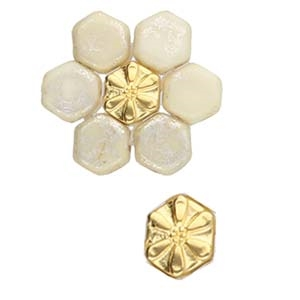 CYM-HC-012435-GP - Stelida - Honeycomb Bead Substitute - 24kt Gold Plated - 1 Piece