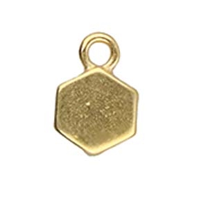 CYM-HC-012462-GP - Maragas - Honeycomb Bead Ending - 24kt Gold Plated - 1 Piece