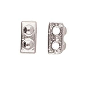 CYM-HT-012331-SP - Ornos - Half Tila Bead Substitute - Antique Silver Plated - 1 Piece
