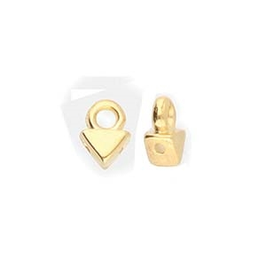 CYM-KT-012859-GP - Agali - Kite Bead Ending - 24kt Gold Plated  - 1 Piece