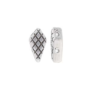 CYM-KT-013087-SP - Vardia - Kite Bead Substitute - Antique Silver Plate - 1 Piece