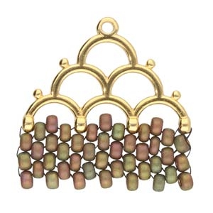 CYM-M80-012218-GP - Lakos IV - 8/0 Seed Bead Ending - 24kt Gold Plated -  1 Piece