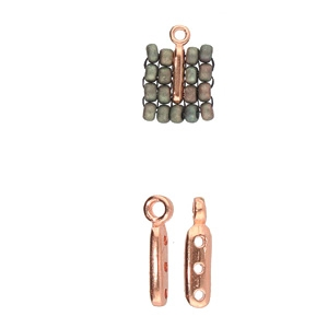 CYM-M80-012225-RG - Zakros - 8/0 Seed Bead Ending - Rose Gold Plated -  1 Piece