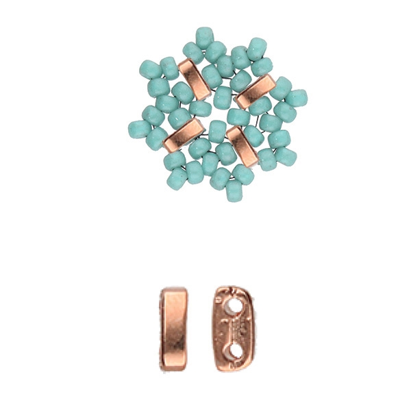 CYM-M80-012229-RG - Vai - Miyuki 8/0 Seed Bead Substitute - Rose Gold Plated - 1 Piece