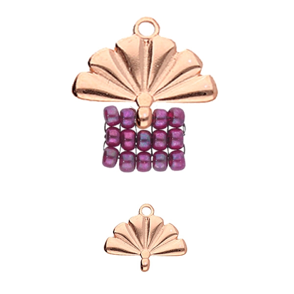 CYM-M80-012510-RG - Sitia - 8/0 Seed Bead Ending - Rose Gold Plated -  1 Piece