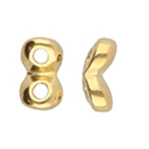 CYM-SD-012201-GP - Kaparia - SuperDuo Side Bead - 24kt Gold Plated - 1 Piece