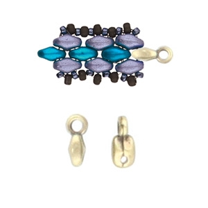 CYM-SD-012204-AB - Vourkoti - SuperDuo Bead Ending - Antique Brass Plated - 1 Piece