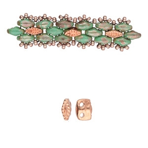 CYM-SD-01226-RG - Varidi - SuperDuo Bead Substitute - Rose Gold Plated - 1 Piece