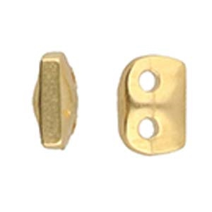 CYM-SD-012356-GP - Vitali - SuperDuo Bead Substitute - 24kt Gold Plated - 1 Piece
