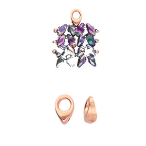 CYM-SD-012357-RG - Kolympos - SuperDuo Bead Ending - Rose Gold Plated - 1 Piece