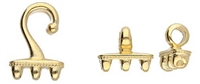 CYM-SD-012437-GP - Mesaria III - SuperDuo Hook & Eye Clasp - 24kt Gold Plated -  1 Set