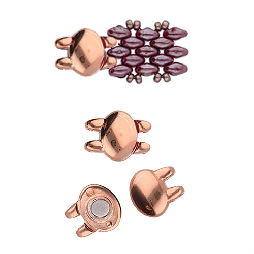 CYM-SD-012499-RG - Kypri - SuperDuo Magnetic Clasp - Rose Gold Plated -  1 Piece