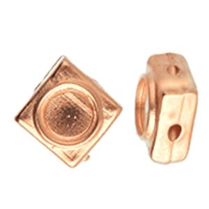 CYM-SQ-012046-RG - Panormos - Silky Bead Substitute - Rose Gold Plated - 1 Piece