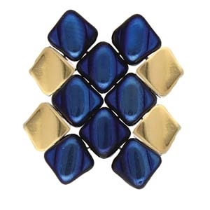 CYM-SQ-012231-GP - Kaloni - Silky Side Bead - 24kt Gold Plated -  1 Piece