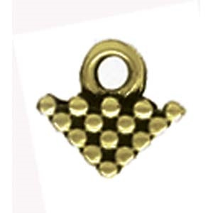 CYM-SQ-012324-AB - Kalivia Silky Bead Ending - Antique Brass Plated - 1 Piece