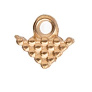 CYM-SQ-012324-RG - Kalivia Silky Bead Ending - Rose Gold Plated - 1 Piece