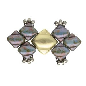 CYM-SQ-012444-AB - Laouti - Silky Bead Ending - Antique Brass Plated - 1 Piece
