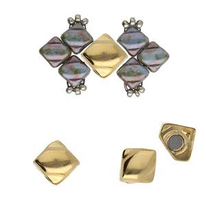 CYM-SQ-012444-GP - Laouti - Silky Bead Ending -24K Gold Plated -  1 Piece