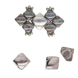 CYM-SQ-012444-SP - Laouti - Silky Bead Ending - Antique Silver Plated -  1 Piece