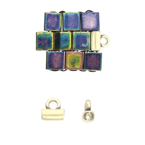 CYM-TL-012230-AB - Soros - Tila Bead Ending - Antique Brass Plated -  1 Piece
