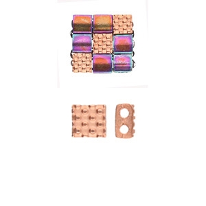 CYM-TL-012330-RG - Parasporos - Tila Bead Substitute - Rose Gold Plated - 1 Piece