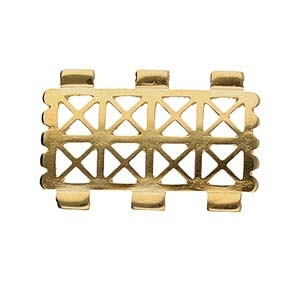 CYM-TL-012333-GP - Faragas - Tila Bead Connector - 24kt Gold Plated - 1 Piece