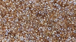11/0 CZ1100030-98532 Crystal Brown Rainbow Czech Seed Beads - 10 Grams