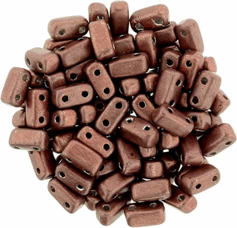 CzechMates Bricks 3x6mm - CZB-04B01 - ColorTrends: Saturated Metallic Grenadine - 25 Pieces