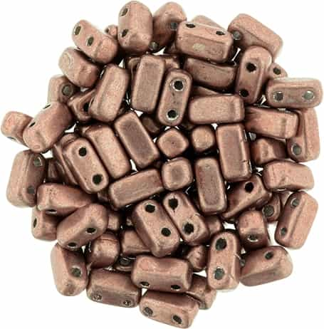 CzechMates Bricks 3x6mm - CZB-04B04 - ColorTrends: Saturated Metallic Butterum - 25 Pieces