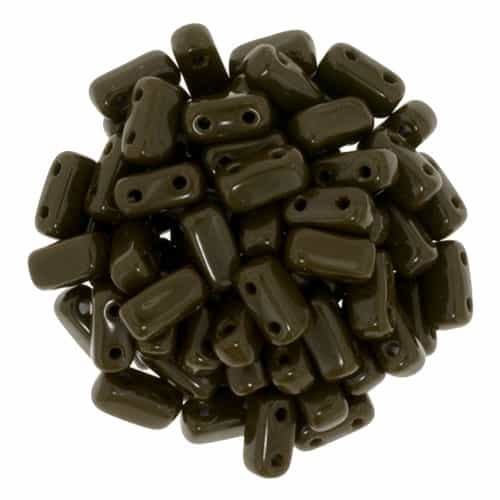 CzechMates Bricks 3x6mm - CZB-13720 - Chocolate Brown - 25 Pieces