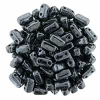 CzechMates Bricks 3x6mm - CZB-14400 - Hematite - 25 Pieces