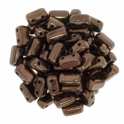 CzechMates Bricks 3x6mm - CZB-14415 - Dark Bronze - 25 Pieces