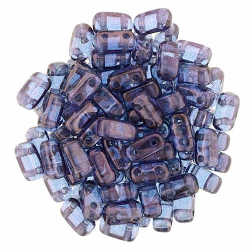 CzechMates Bricks 3x6mm - CZB-15726 - Luster - Transparent Amethyst
