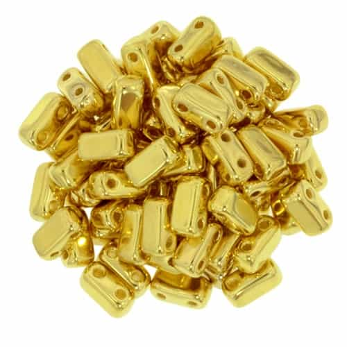 CzechMates Bricks 3x6mm - CZB-270 - 24K Gold Plated - 25 Pieces
