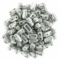 CzechMates Bricks 3x6mm - CZB-27000 - Silver - 25 Pieces