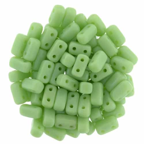 CzechMates Bricks 3x6mm - CZB-53200 - Honeydew - 25 Pieces