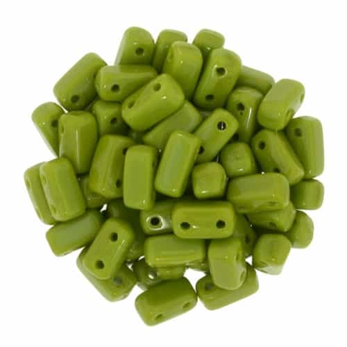 CzechMates Bricks 3x6mm - Opaque Olive