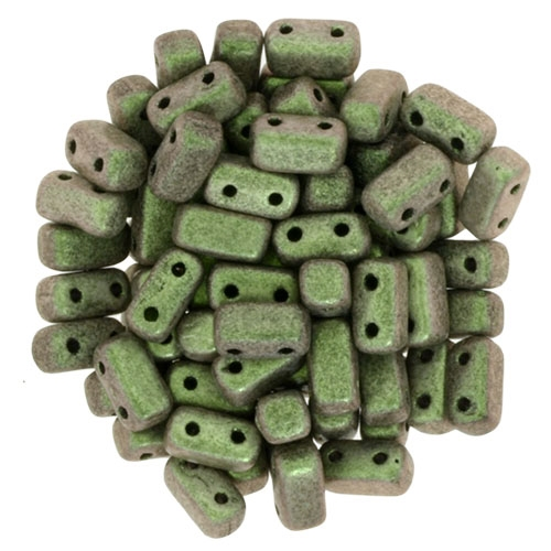 CzechMates Bricks 3x6mm - CZB-94103 - Polychrome - Olive Mauve - 25 Pieces